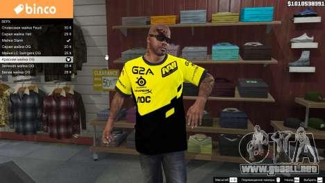 GTA 5 T-shirt para Natus Vincere Franklin segunda captura de pantalla