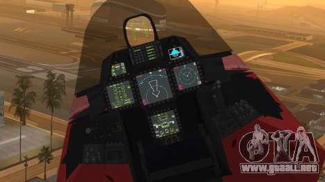 F-22 Raptor MARIO para la visión correcta GTA San Andreas