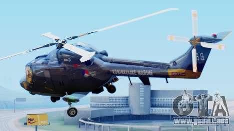Westland SH-14D Lynx para GTA San Andreas left