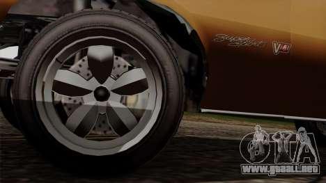 GTA 5 Declasse Vigero para GTA San Andreas vista hacia atrás