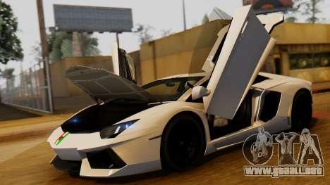 Lamborghini Aventador LP 700-4 2012 para la visión correcta GTA San Andreas