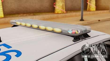 Police Ranger 2013 para GTA San Andreas vista hacia atrás