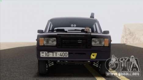 VAZ 2107 Avtosh Style para GTA San Andreas vista posterior izquierda