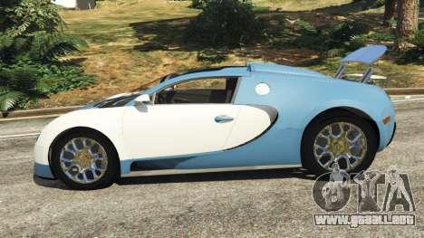 GTA 5 Bugatti Veyron Grand Sport v2.0 vista lateral izquierda