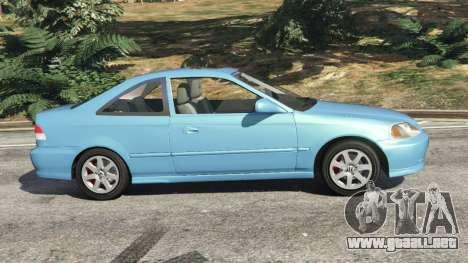 GTA 5 Honda Civic Si 1999 v1.1 vista lateral izquierda
