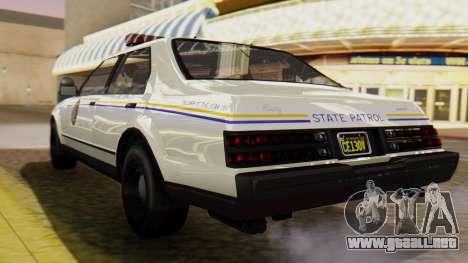 GTA 5 Albany Esperanto Police Roadcruiser para GTA San Andreas left
