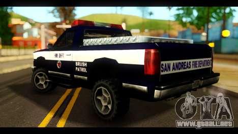 FDSA Brush Patrol Car para GTA San Andreas left