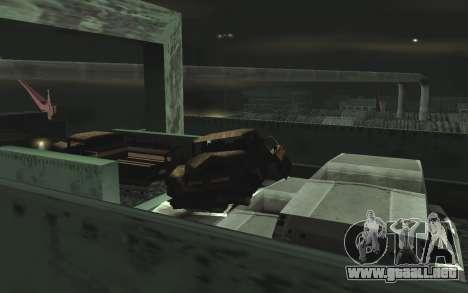 Automotriz depósito de chatarra v0.1 para GTA San Andreas octavo de pantalla