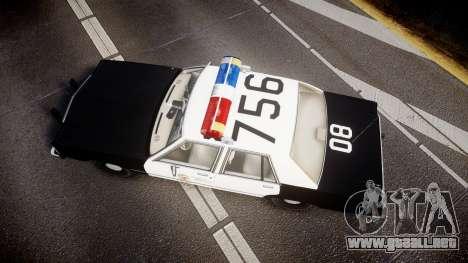 Ford LTD Crown Victoria 1987 LAPD [ELS] para GTA 4 visión correcta