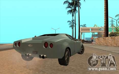 GTA VC Infernus SA Style para GTA San Andreas vista hacia atrás