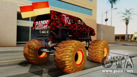 The Seventy Monster para GTA San Andreas left