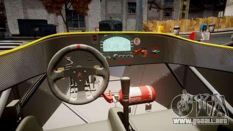 Radical SR8 RX 2011 [2] para GTA 4 vista hacia atrás