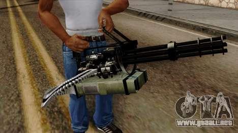 Original HD Minigun para GTA San Andreas tercera pantalla
