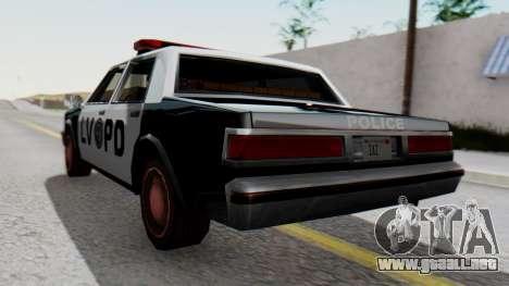 Police LV with Lightbars para GTA San Andreas left