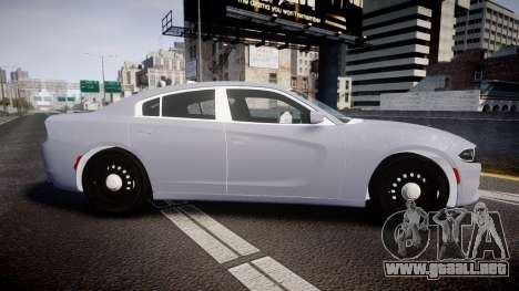 Dodge Charger 2015 Unmarked [ELS] para GTA 4 left