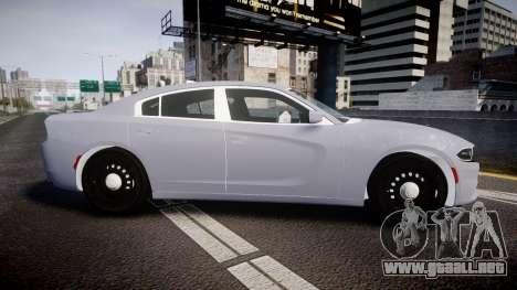 Dodge Charger 2015 Unmarked [ELS] para GTA 4 left