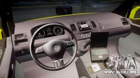 Volkswagen Transporter Norwegian Ambulance [ELS] para GTA 4 vista hacia atrás