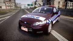 Ford Falcon FG XR6 Turbo NSW Police [ELS] v3.0 para GTA 4