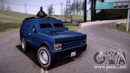 El Coche Blindado. para GTA San Andreas