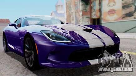 Dodge Viper SRT GTS 2013 HQLM (HQ PJ) para GTA San Andreas