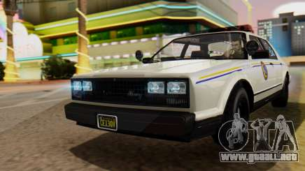 GTA 5 Albany Esperanto Police Roadcruiser para GTA San Andreas