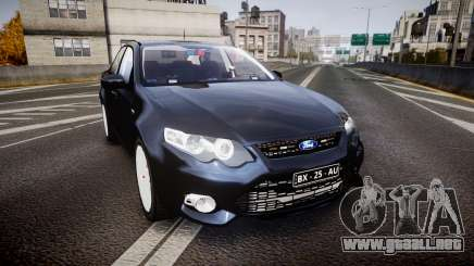 Ford Falcon FG XR6 Unmarked Police [ELS] v2.0 para GTA 4