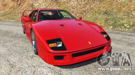 Ferrari F40 1987 v1.1 para GTA 5
