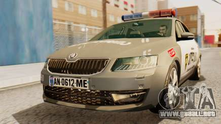 Skoda Octavia A7 Georgia Police para GTA San Andreas