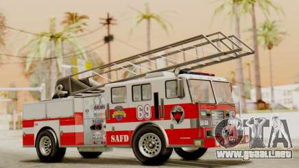 SAFD Fire Lader Truck Flat Shadow para GTA San Andreas