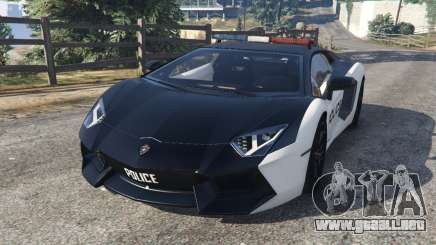 Lamborghini Aventador LP700-4 Police v3.5 para GTA 5