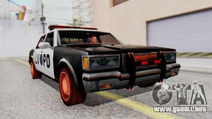 Police LV with Lightbars para GTA San Andreas
