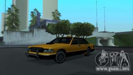 Nuevo Taxi sedán para GTA San Andreas