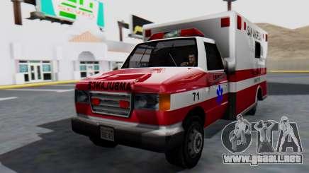 Ambulance with Lightbars para GTA San Andreas