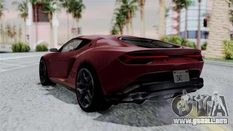 Lamborghini Asterion Concept 2015 v2 para GTA San Andreas left