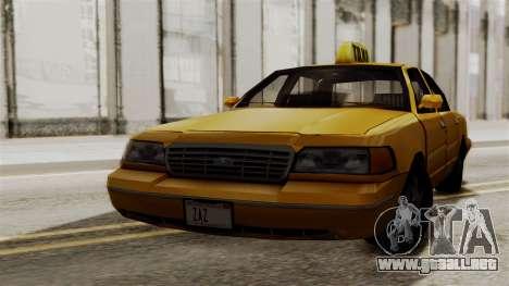 Ford Crown Victoria LP v2 Taxi para GTA San Andreas left