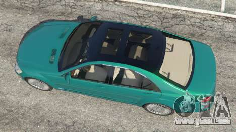 GTA 5 Mercedes-Benz S550 W221 v0.4.2 [Alpha] vista trasera