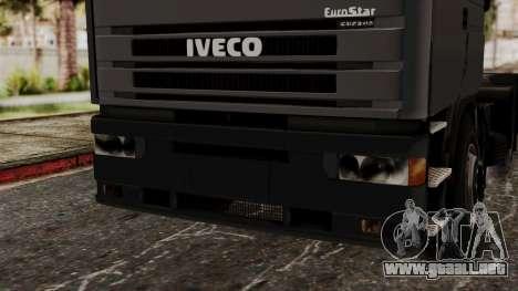 Iveco EuroStar Low Cab para visión interna GTA San Andreas