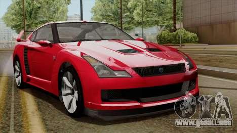 GTA 5 Elegy RH8 para GTA San Andreas left