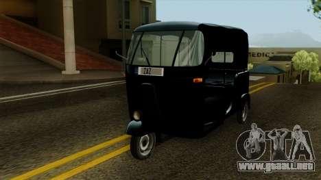 Indian Auto Rickshaw Tuk-Tuk para la visión correcta GTA San Andreas