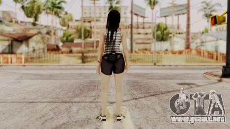 DOA 5 Kokoro Casual para GTA San Andreas tercera pantalla