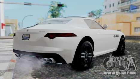 GTA 5 Benefactor Surano v2 para GTA San Andreas left
