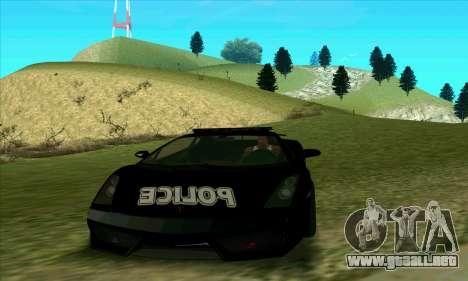 Federal Police Lamborghini Gallardo para GTA San Andreas