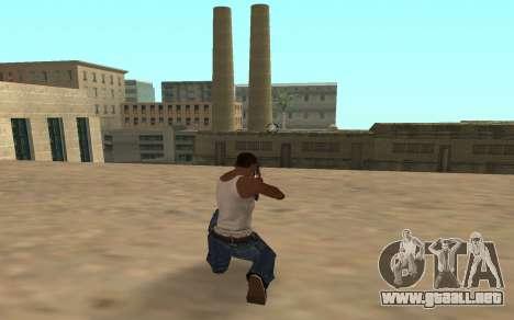 Escopeta con un cachorro de tigre para GTA San Andreas segunda pantalla