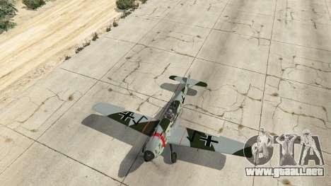 GTA 5 Messerschmitt BF-109 E3 v1.1 cuarto captura de pantalla