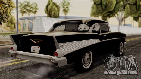 Chevrolet Bel Air Sport Coupe (2454) 1957 HQLM para GTA San Andreas left
