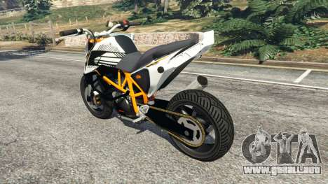 GTA 5 KTM 690 Duke Street Edition vista lateral izquierda