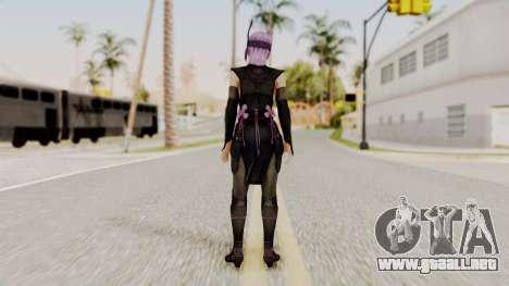 DOA 5 Ayane Ninja para GTA San Andreas tercera pantalla