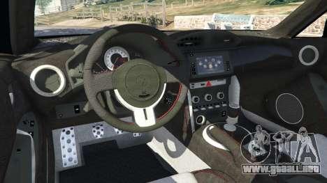 GTA 5 Toyota GT-86 v1.1 vista lateral trasera derecha