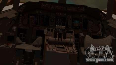 Boeing 747-100 American Airlines para visión interna GTA San Andreas