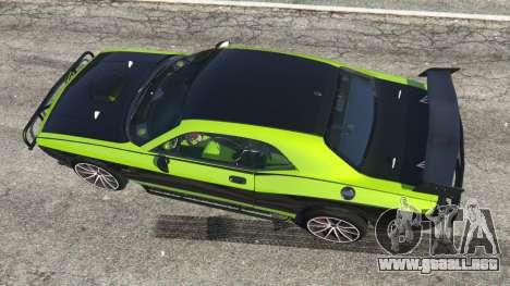 GTA 5 Dodge Challenger 2015 Shaker Furious 7 vista trasera